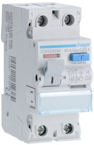 Diferencial Hager 2P 40A 30mA Tipo A – SI